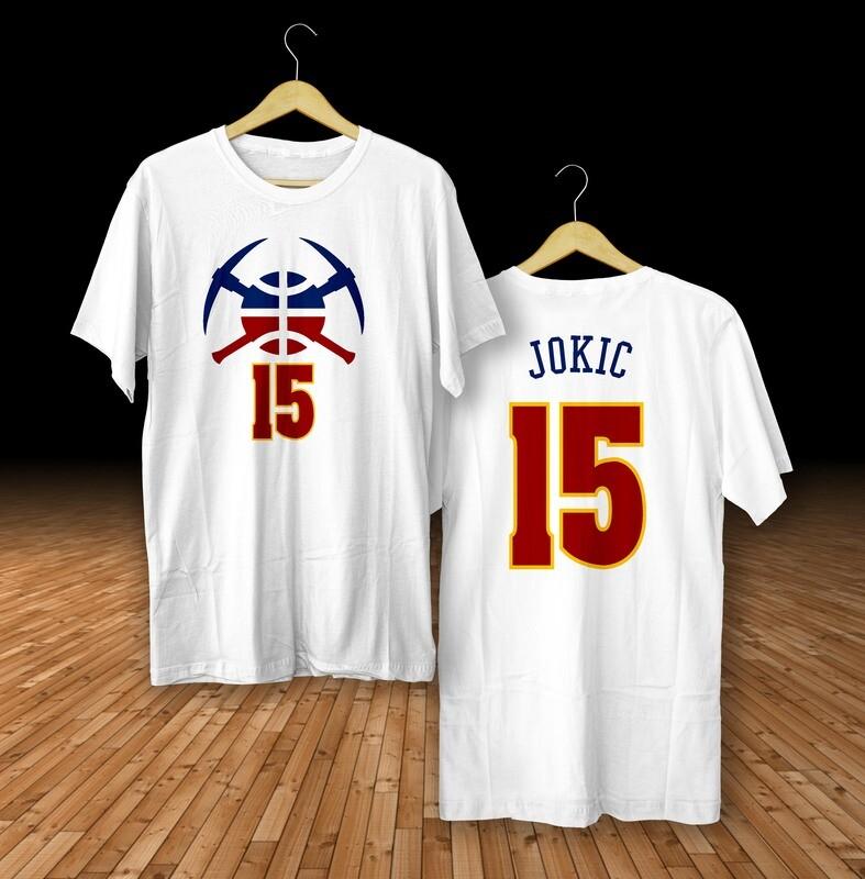 Jokic white  t-shirt