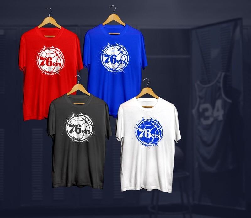 Phila distressed  t-shirts
