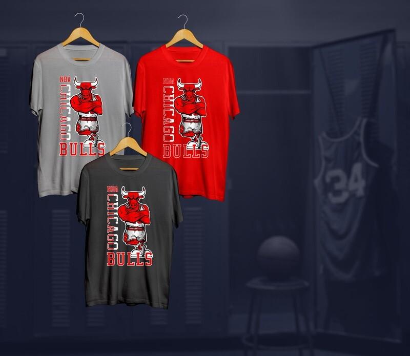 Bulls mascot  t-shirts