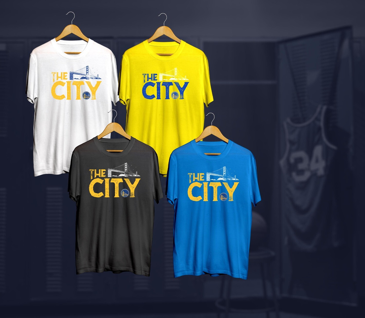 Golden state The city  t-shirts