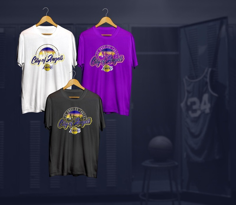 Lakers city of angels  t-shirts