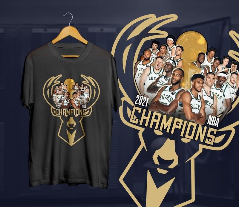 Bucks Deer  Champs  Gold  t-shirt
