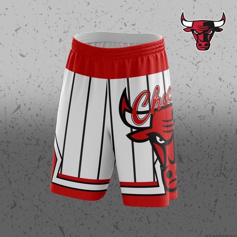 Chicago white  Big Logo Shorts