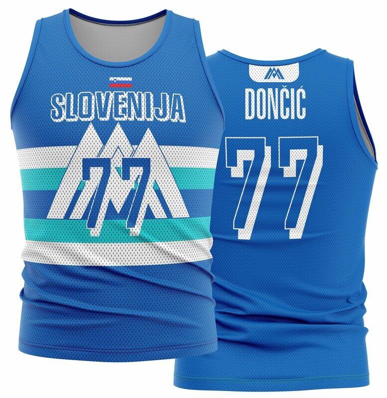 Doncic Slovenia Blue Shirt