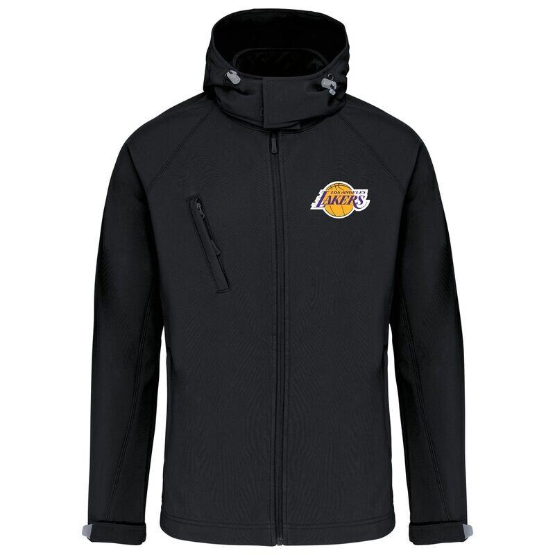 lakers retro  softshell jacket