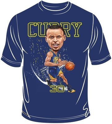 Curry caricature t-shirt
