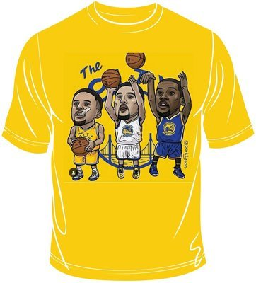 Golden state players caricatures