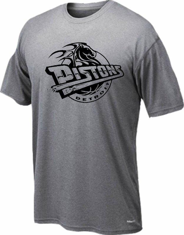Dryfit t-shirt Detroit horse only black