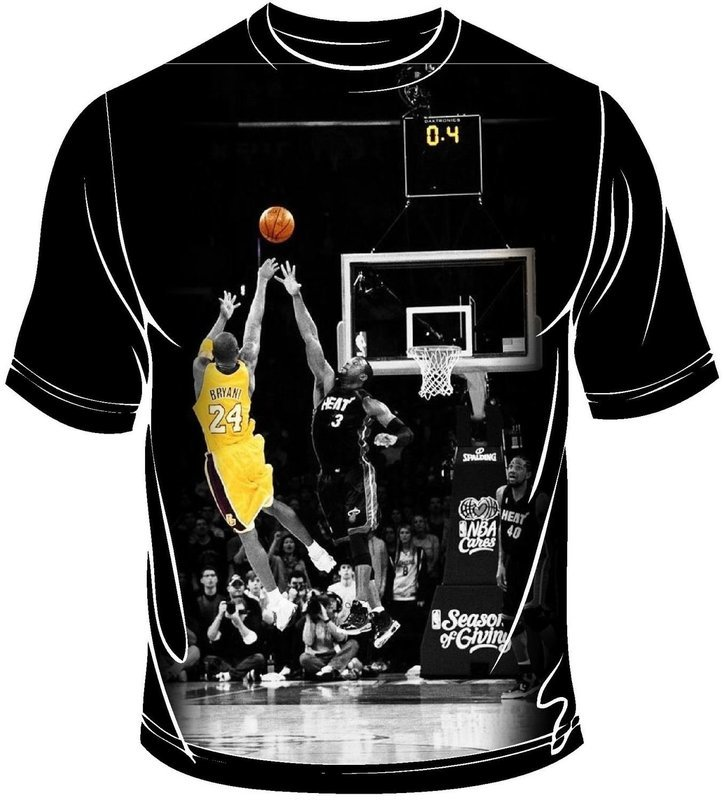 Kobe shooting  full print t-shirt