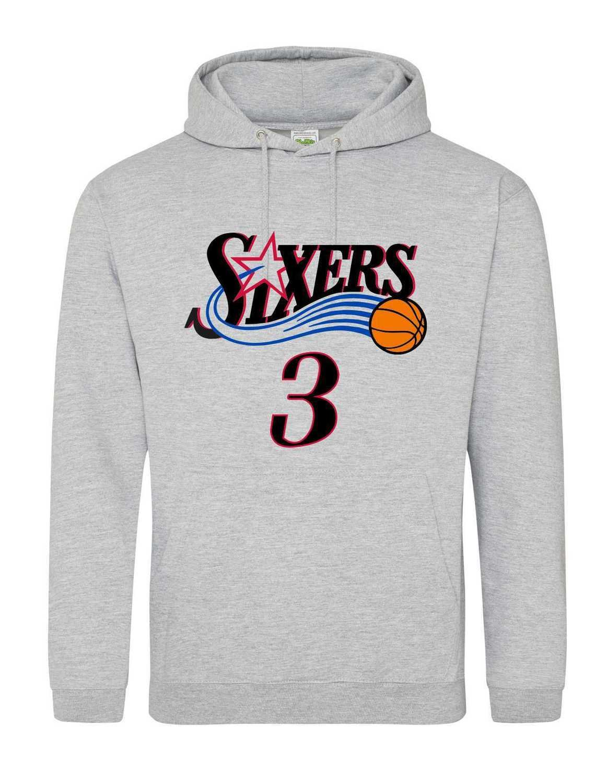 Sixers 3 grey hoodie MEDIUM
