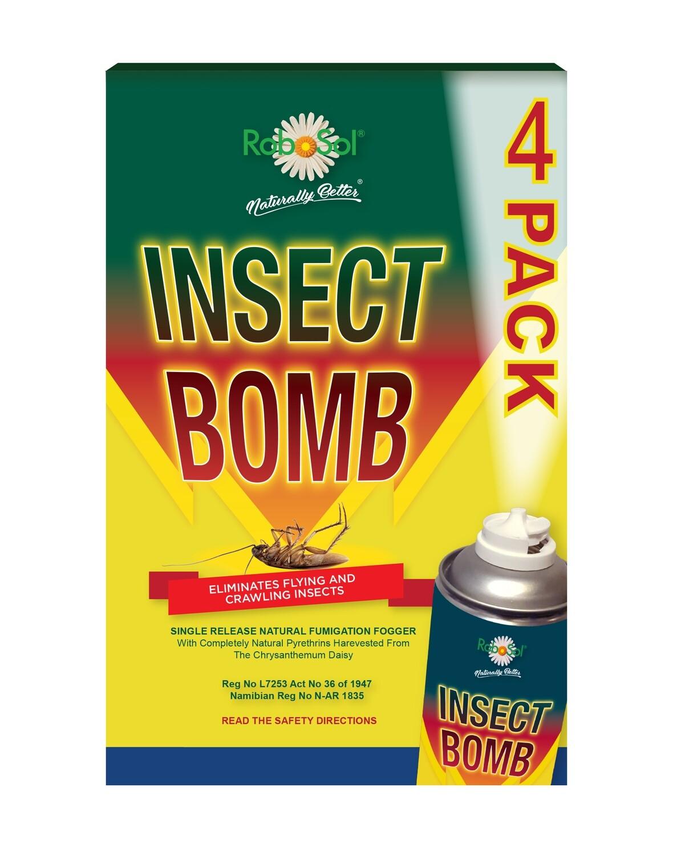 330ml RoboSol Insect Bomb x4 Pack
