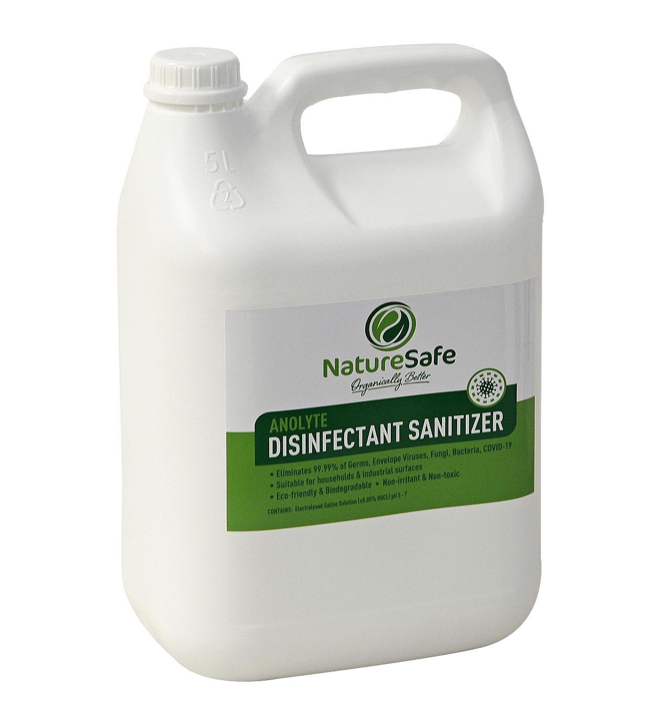 NatureSafe 2.5L Anolyte Disinfectant Sanitiser