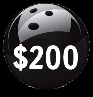 $200 Bowling  Lane Sponsorship