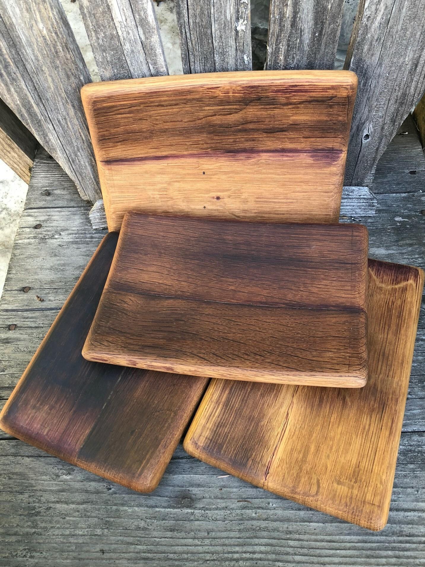 Wine barrel stave tray - small 1004