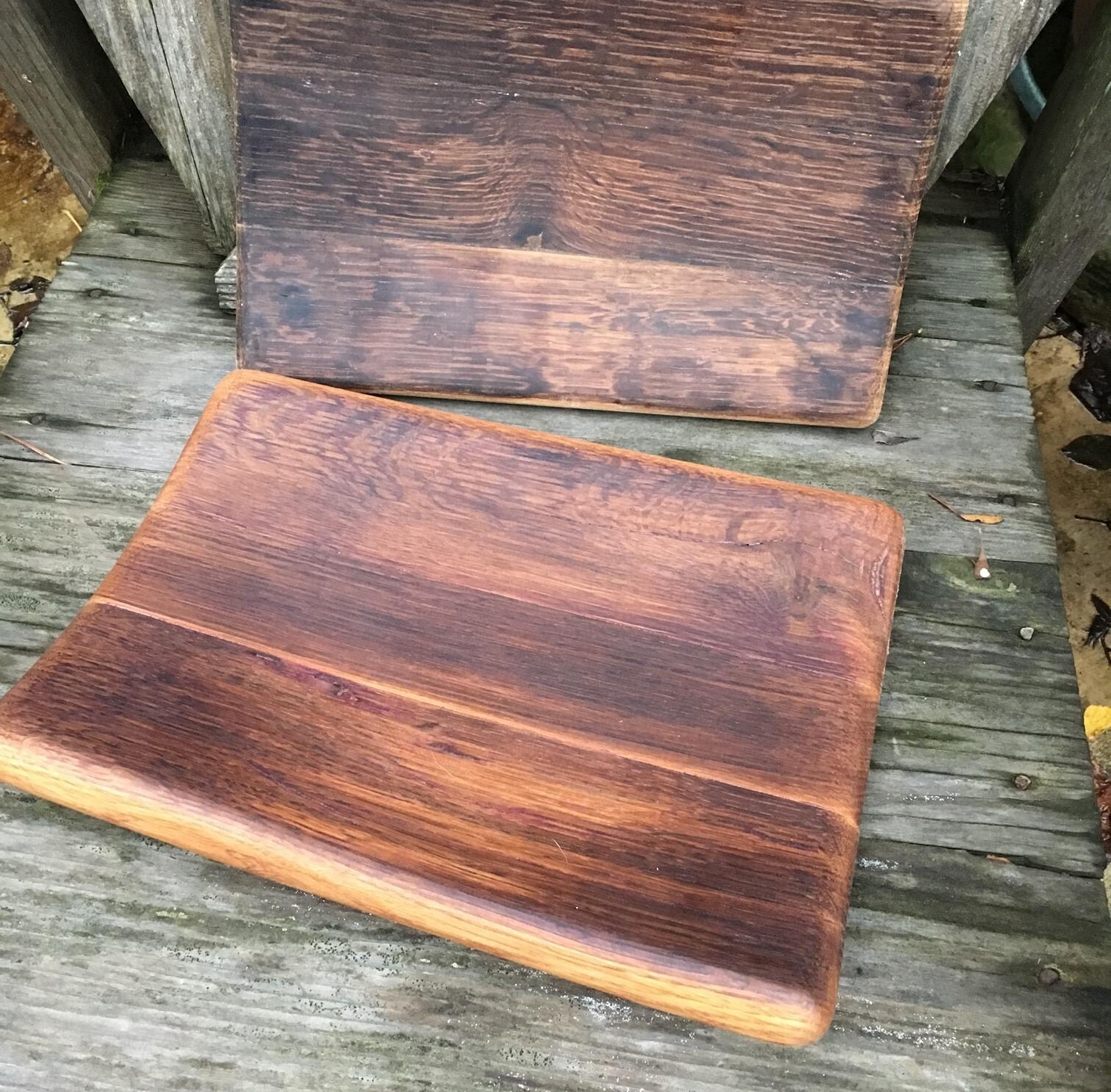 Wine barrel stave tray - medium