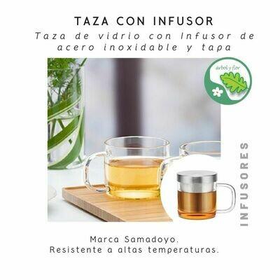 Samadoyo - Taza con Tapa e infusor de acero S049A