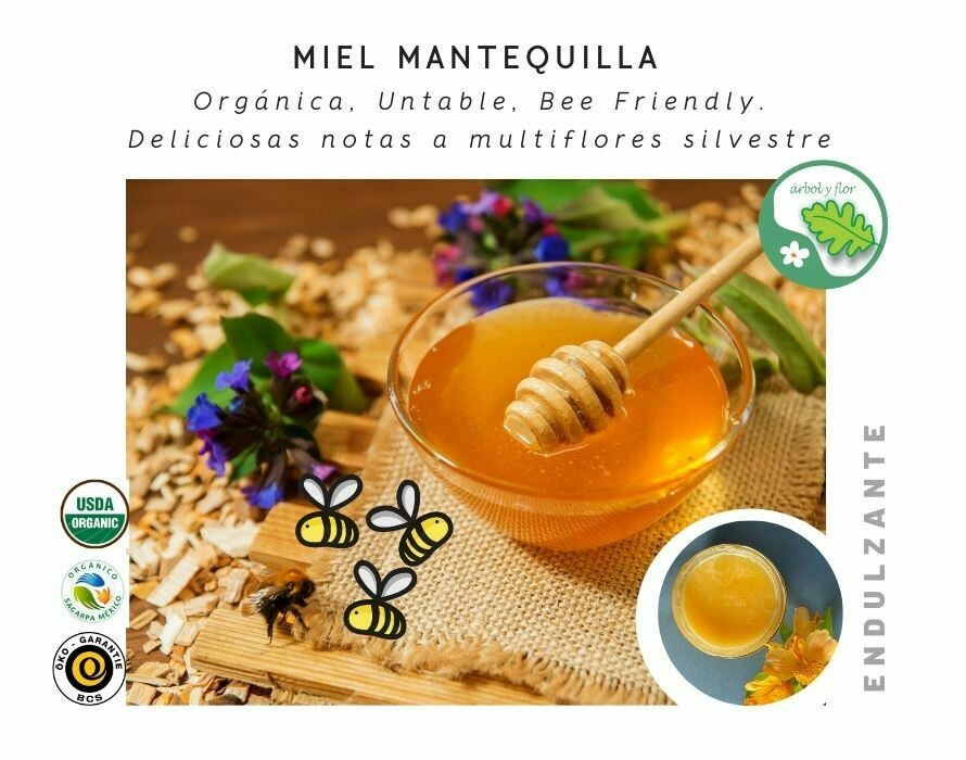 Miel Mantequilla Organica