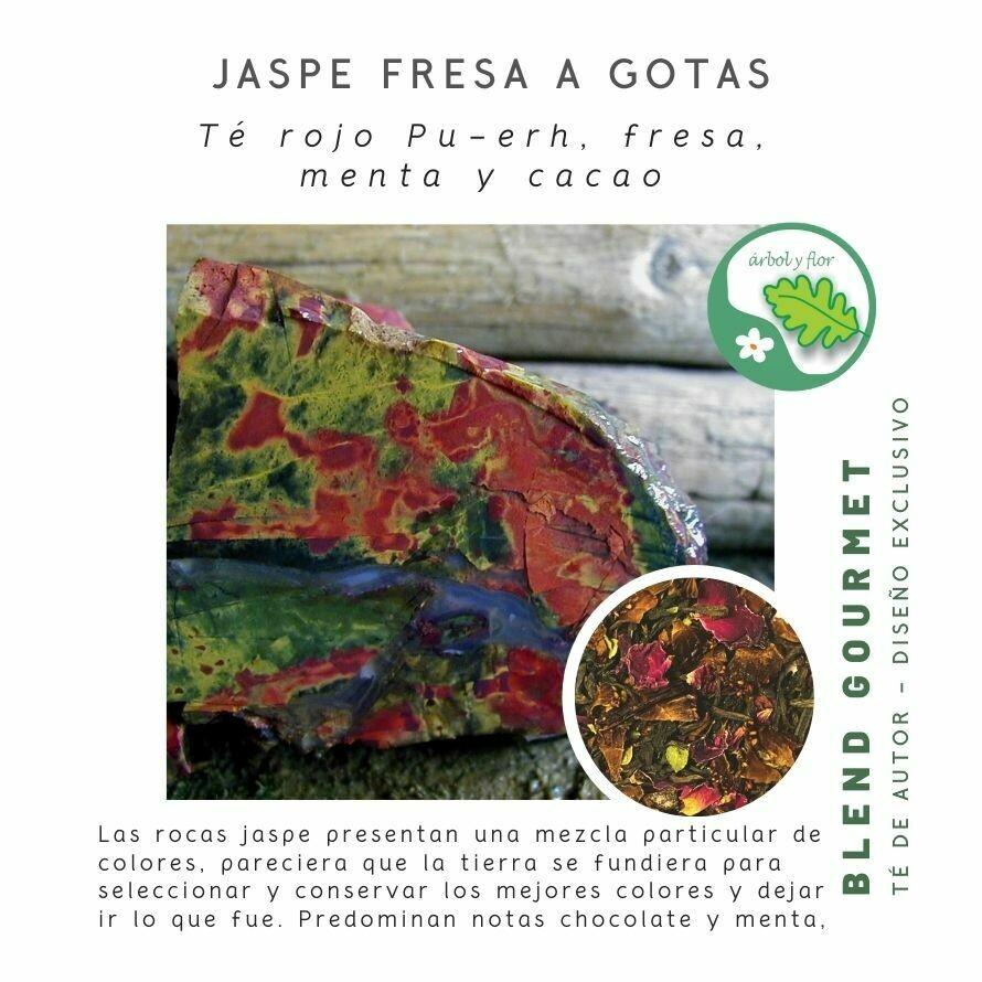 Jaspe Fresa a Gotas - Blend de Té Rojo Pu erh y Cacao