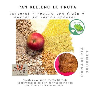 Pan con relleno de fruta natural