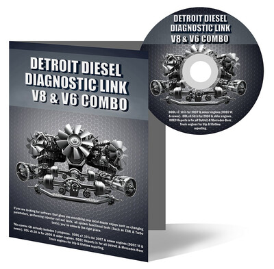 Detroit Diesel Diagnostic Link v8 & v6 Combo Professional License - 12 Month License