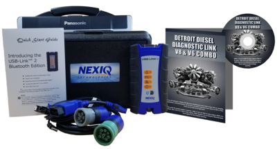 Detroit Diesel Diagnostic Link v8 & v6 Combo Standard License with NexIQ Scanner and Toughbook Dealer Package