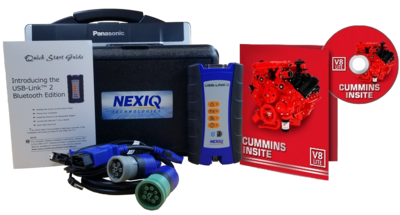 Cummins Insite Engine Diagnostic Software Lite with NexIQ Panasonic Toughbook Dealer Package