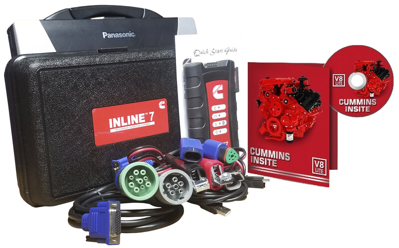 Cummins Insite Engine Diagnostic Software Lite with Inline 7 Panasonic Toughbook Dealer Package
