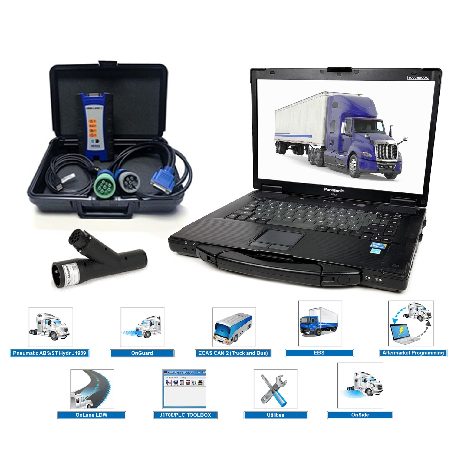 Oem Diagnostics Diesel ABS Software Nexiq Toughbook Bundle Meritor Wabco Haldex Bendix ACOM Wabash
