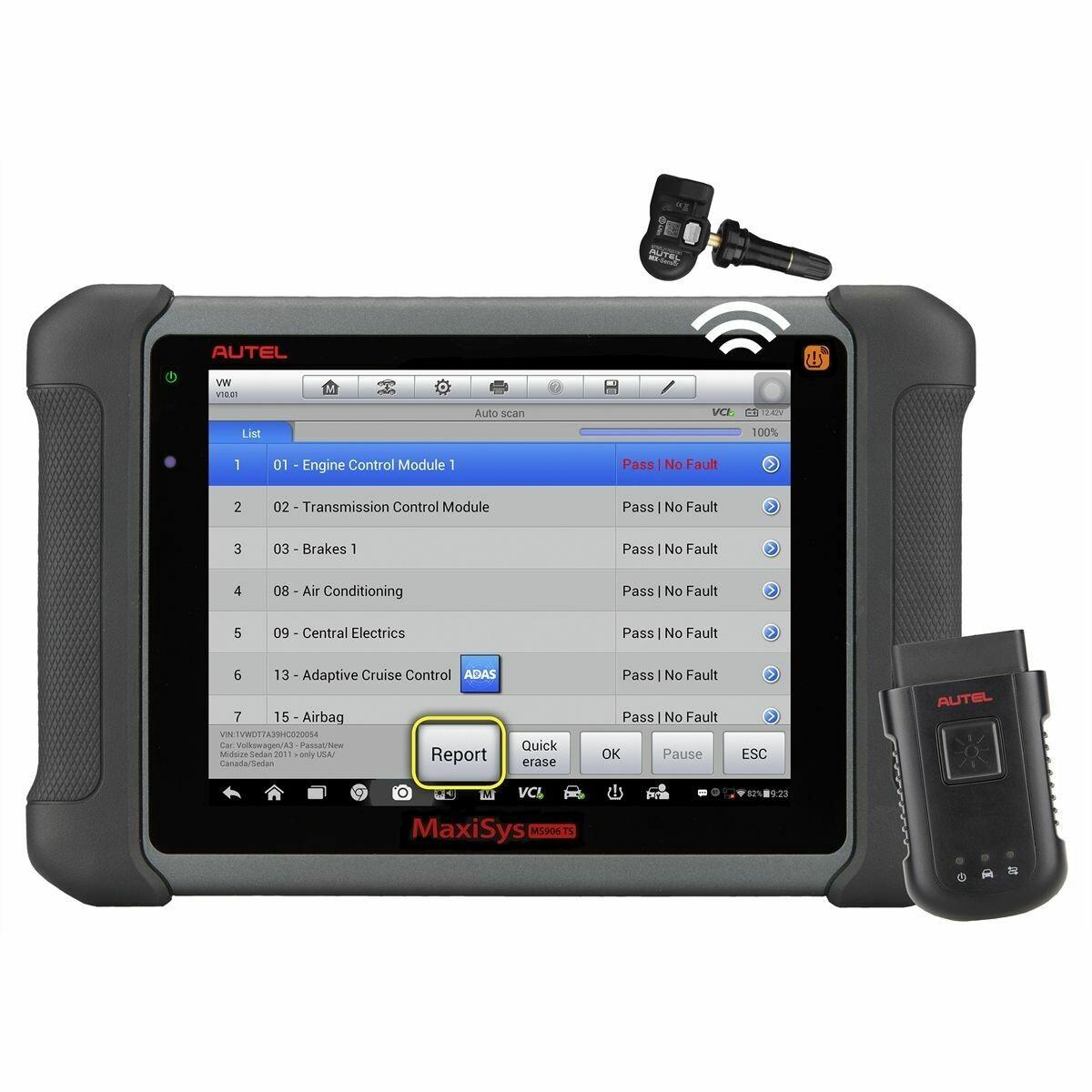 AUTEL MaxiSYS 906TS Diagnostic System & Comprehensive TPMS Service Device