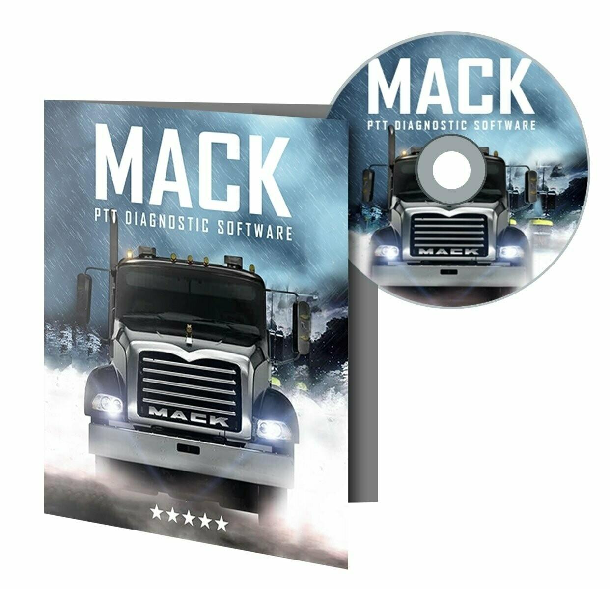 MACK Premium Tech Tool (PTT) Diagnostic Software Including Specific ECU Programming