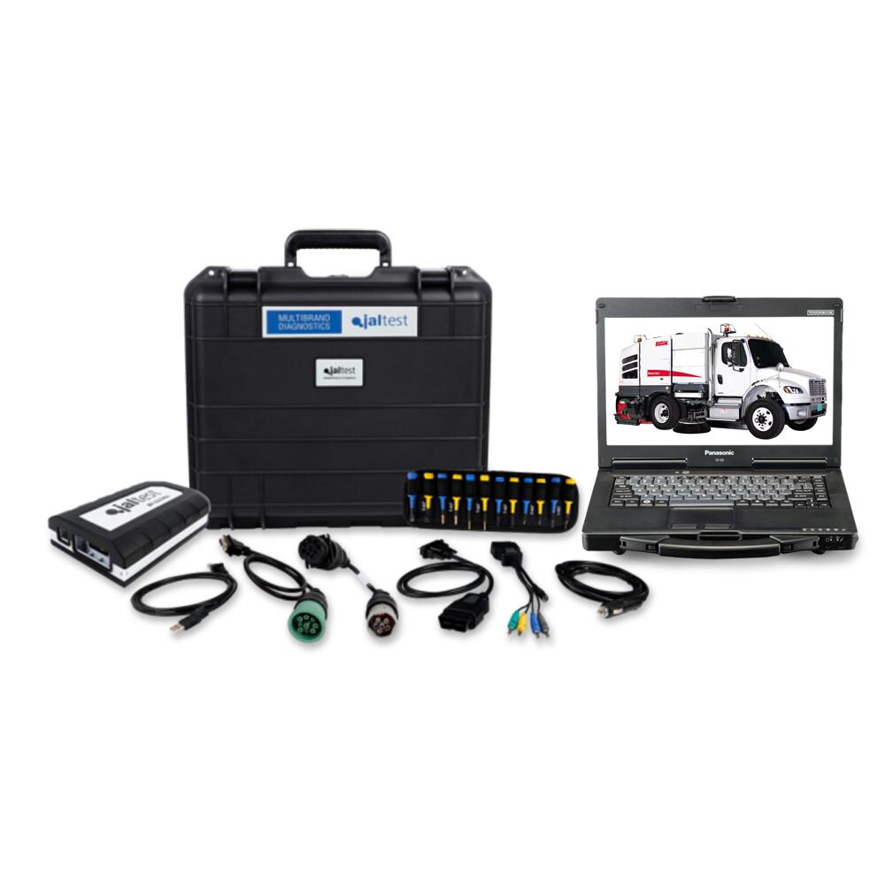 Street Sweeper Diagnostic Jaltest Dealer Toughbook Laptop Kit