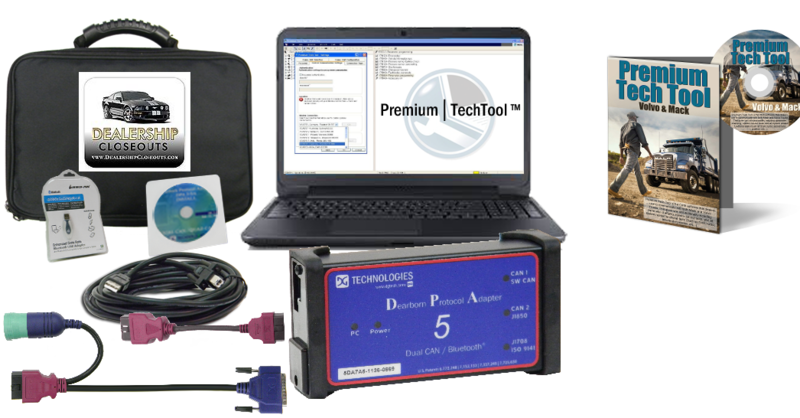 Mack & Volvo Premium Tech Tool with DPA 5 Adapter & Diesel Diagnostic Laptop