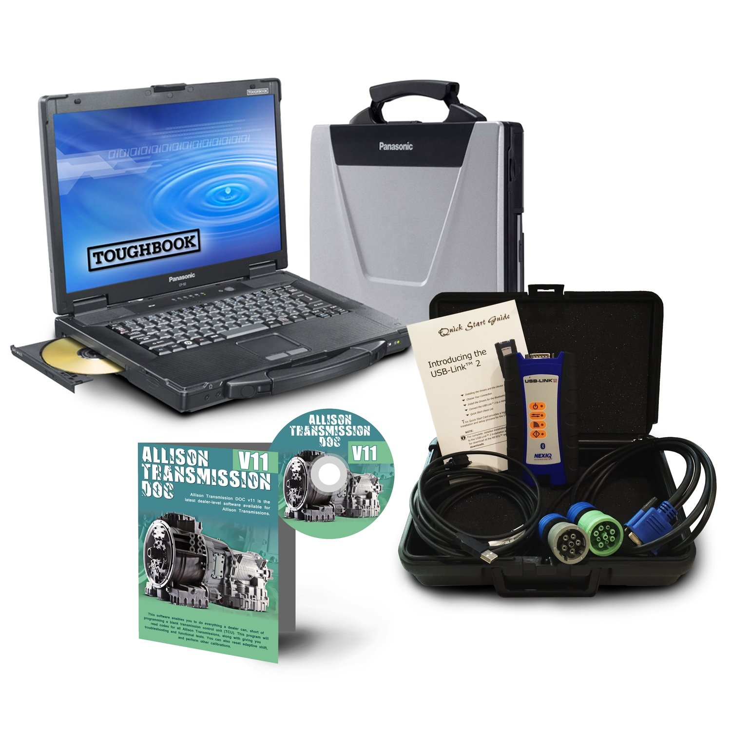 Allison DOC diagnostic solutions Toughbook Dealer Package with NexIQ USB Link 2