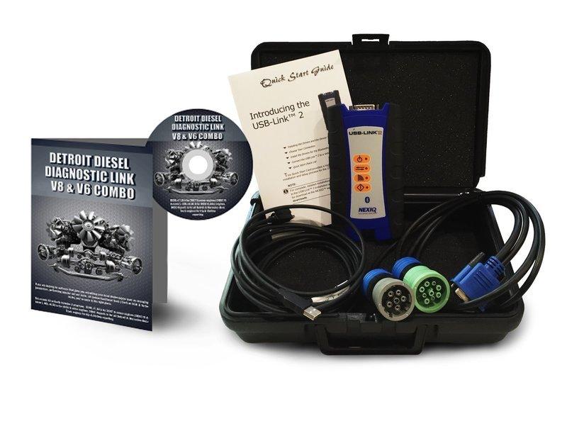 Detroit Diesel Diagnostic Link v8 & v6 Combo Standard License with NexIQ Scanner