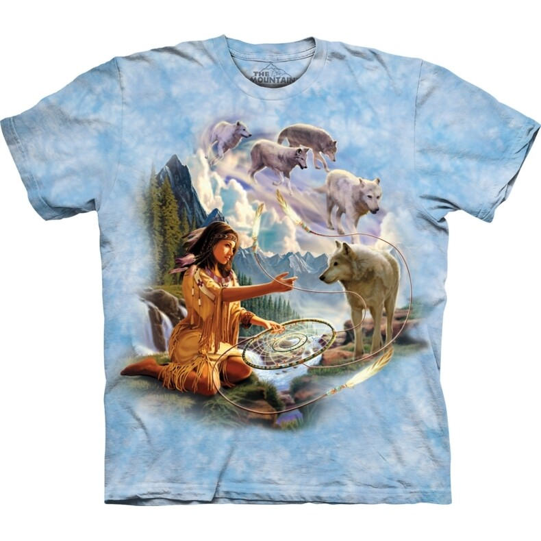 T-Shirt Dreams of Wolf Spirit Native