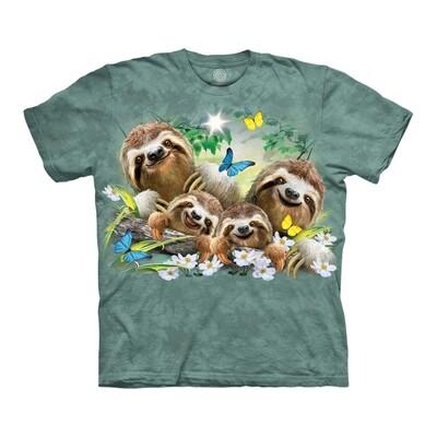 T-Shirt Sloth Family Selfie