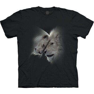 T-Shirt White Lions Love