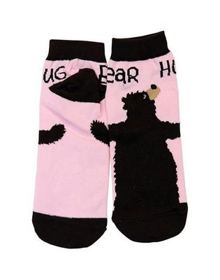 Halkstrumpor Bear Hug Pink