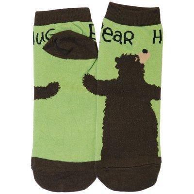 Halkstrumpor Bear Hug Green