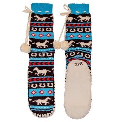 Horse Fair Isle Mukluk Slippers