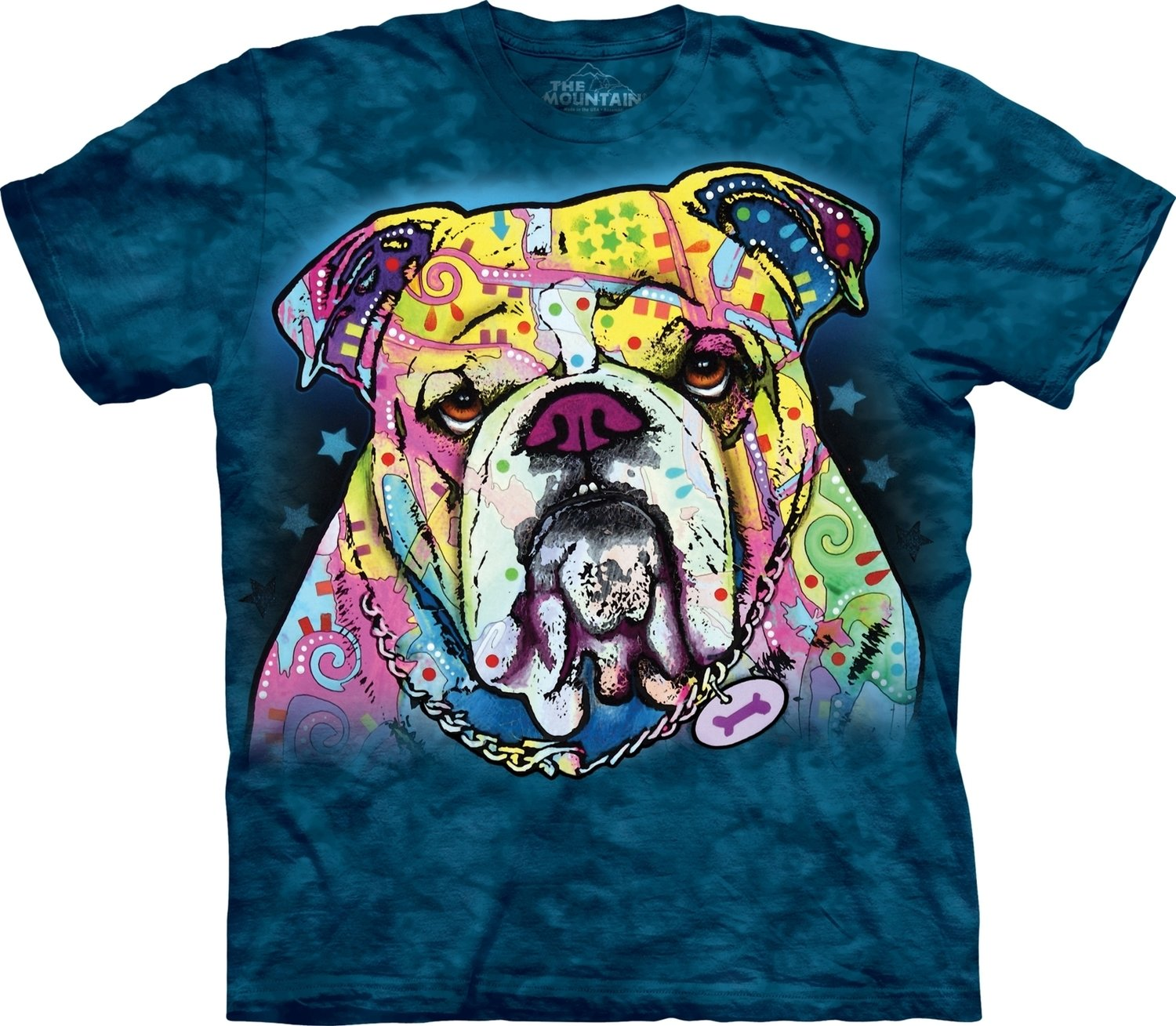 T-Shirt Colorful Bulldog