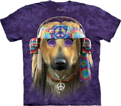 T-Shirt Groovy Dog Peace