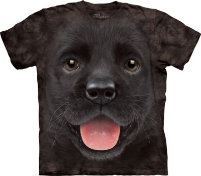 T-Shirt Black Lab Puppy Kids