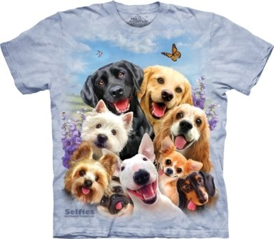 T-Shirt Dogs Selfie Kids