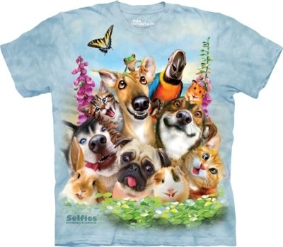 T-Shirt Pet Selfie Kids