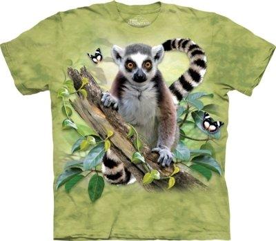 T-Shirt Lemur & Butterflies Kids