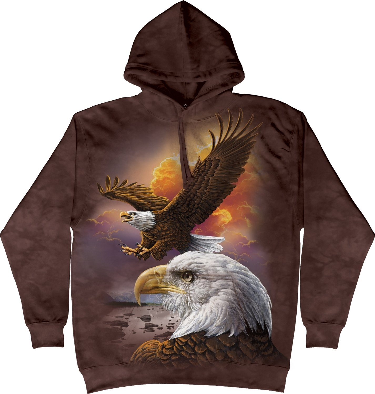 Hoodie Eagle & Clouds