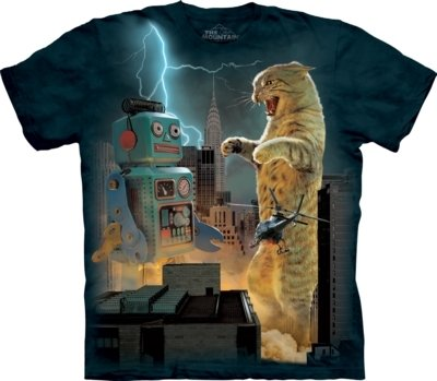 T-Shirt Catzilla vs Robot