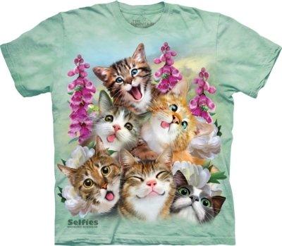 T-Shirt Kittens Selfie