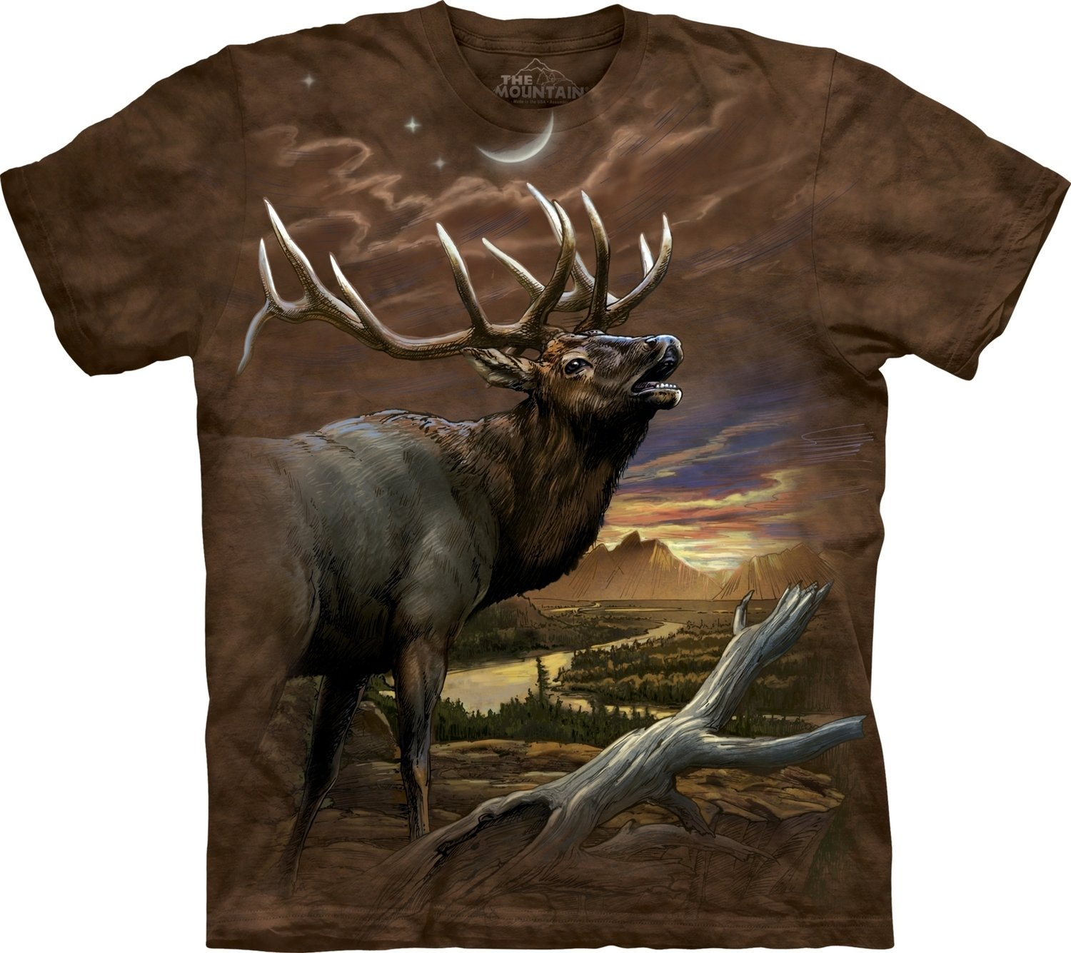 T-Shirt Mountain Elk at Dusk